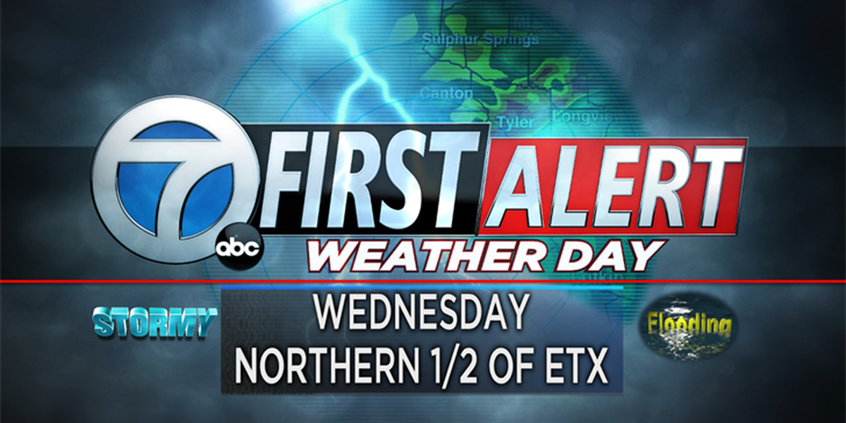 First Alert Weather Day for Wednesday, heavy rain, isolated storms likely