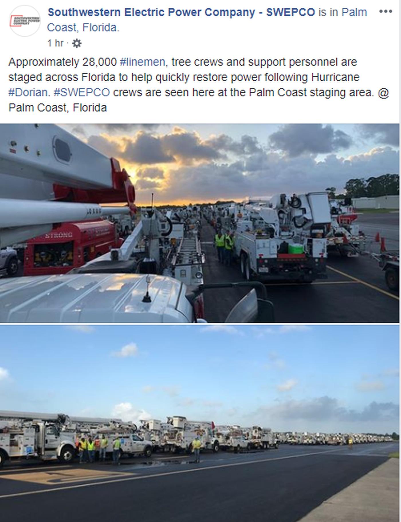 WEBXTRA: SWEPCO deploys crews, equipment to aid recovery