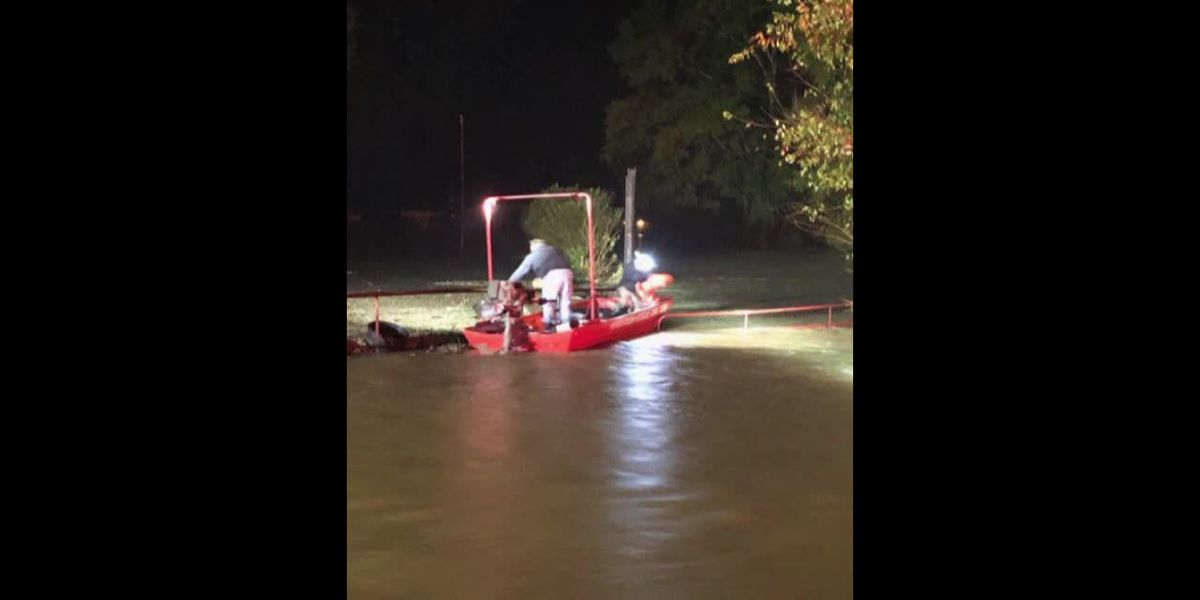 Rusk County Family Rescued From Flooded Home