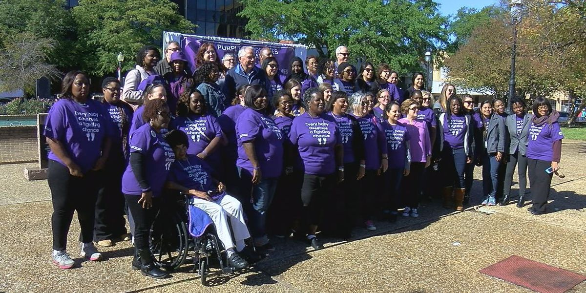 'Purple for Preemies' raises awareness in downtown Tyler