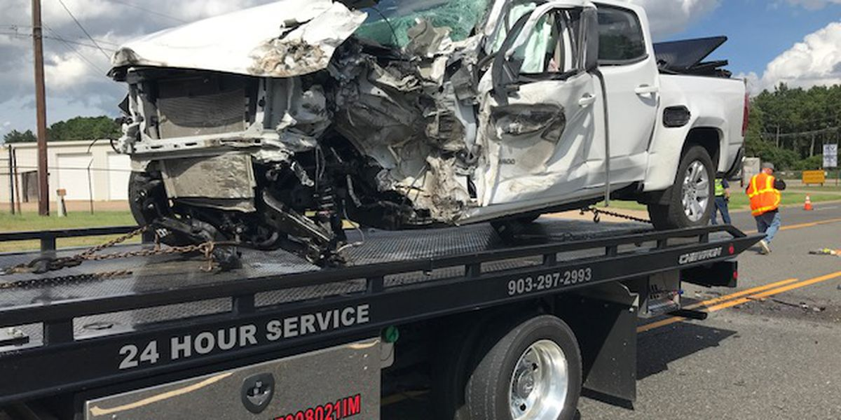 WEBXTRA: One person taken to hospital after Longview wreck involving 18-wheeler