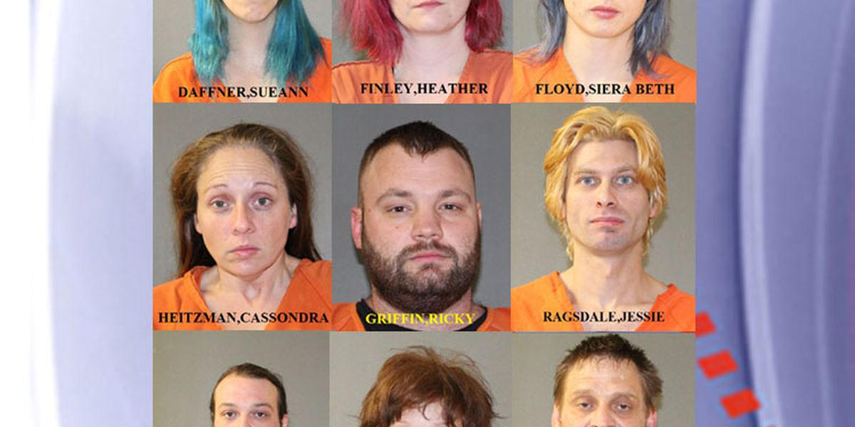 Titus County Sheriff's deputies arrest 9 after search warrant turns up meth, gun, paraphernalia