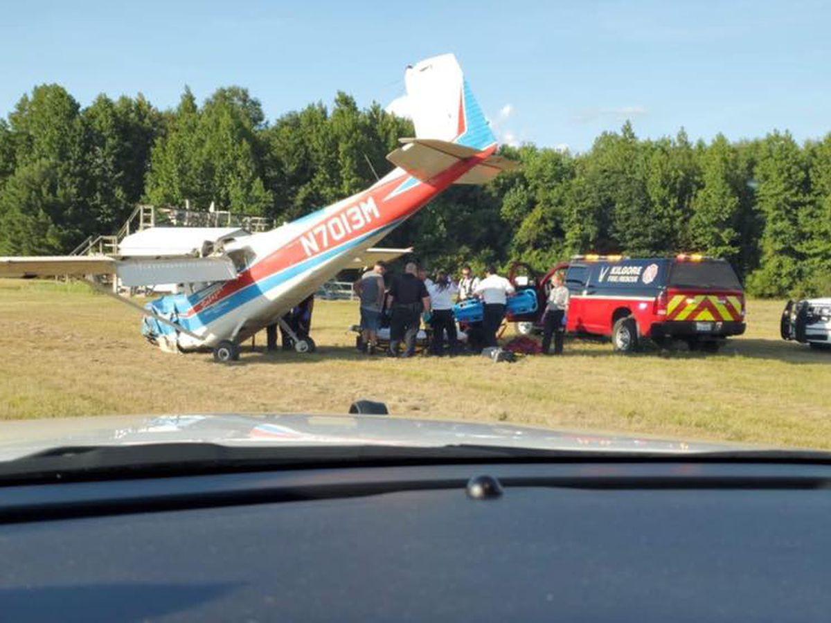 Minor injuries reported in Kilgore plane crash