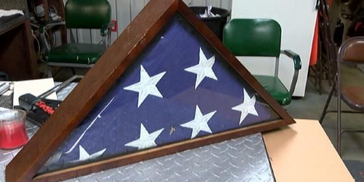 Veteran's flag, honorable discharge certificate found in wrecking-yard car