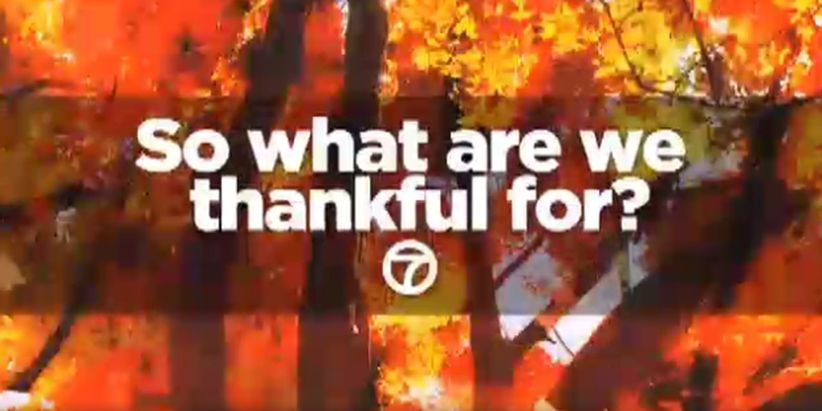 Here's what we're thankful for this year
