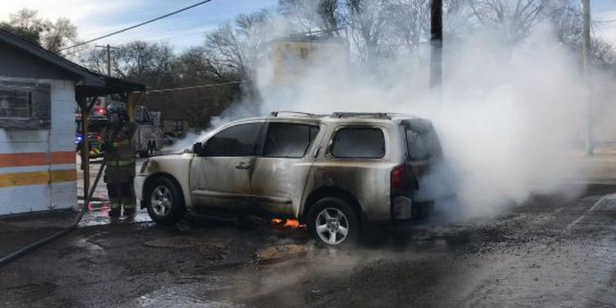 Vehicle fire burns up Christmas gifts