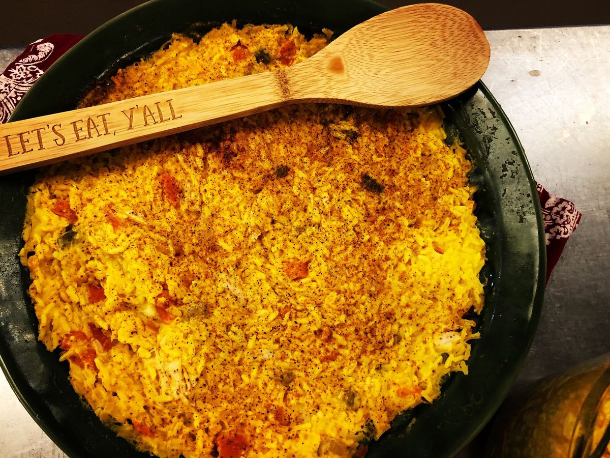 Chicken and yellow rice bake by Mama Steph