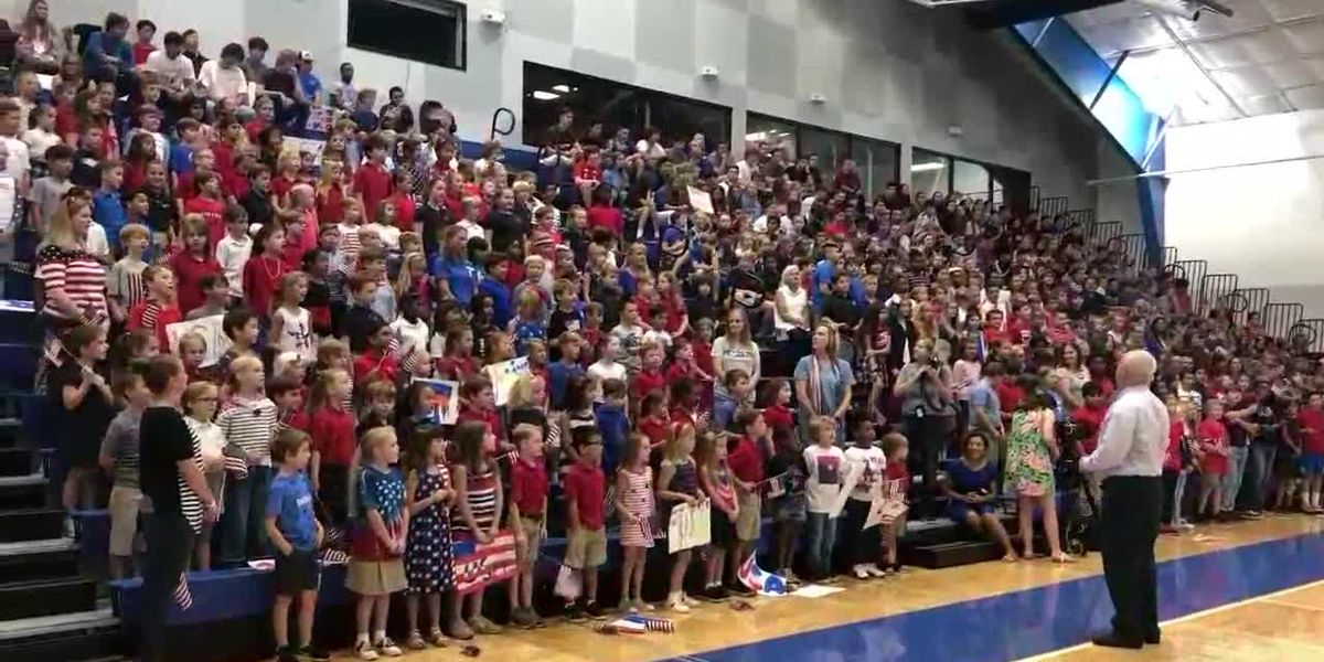 All Saints Episcopal School honors wounded warriors
