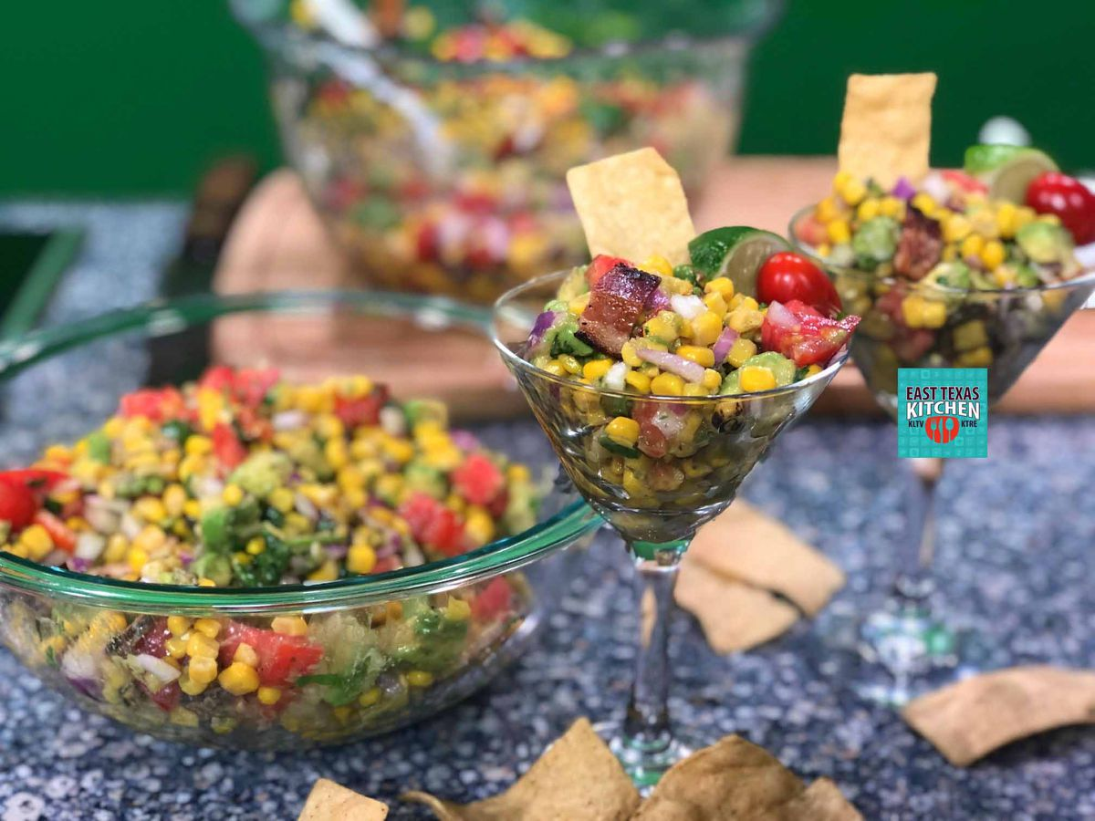 Avocado corn salad by Bear Creek Smokehouse