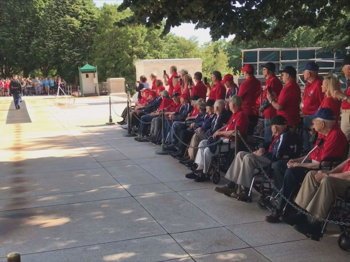 Heroes flight: East Texas veterans visit Arlington National Cemetery, U.S. Marine Corps War Memorial