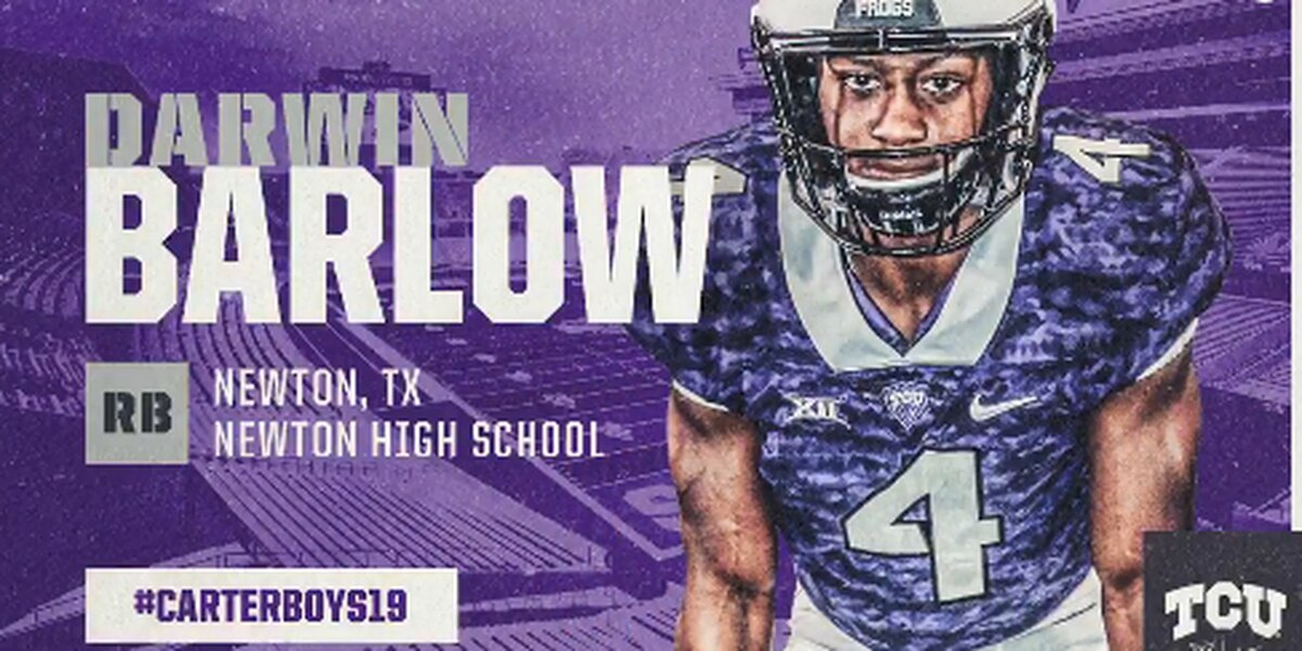 Newton RB Darwin Barlow commits to TCU