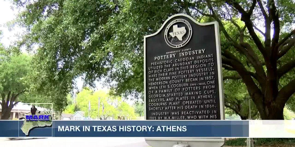 Mark in Texas History: Athens Pottery Company