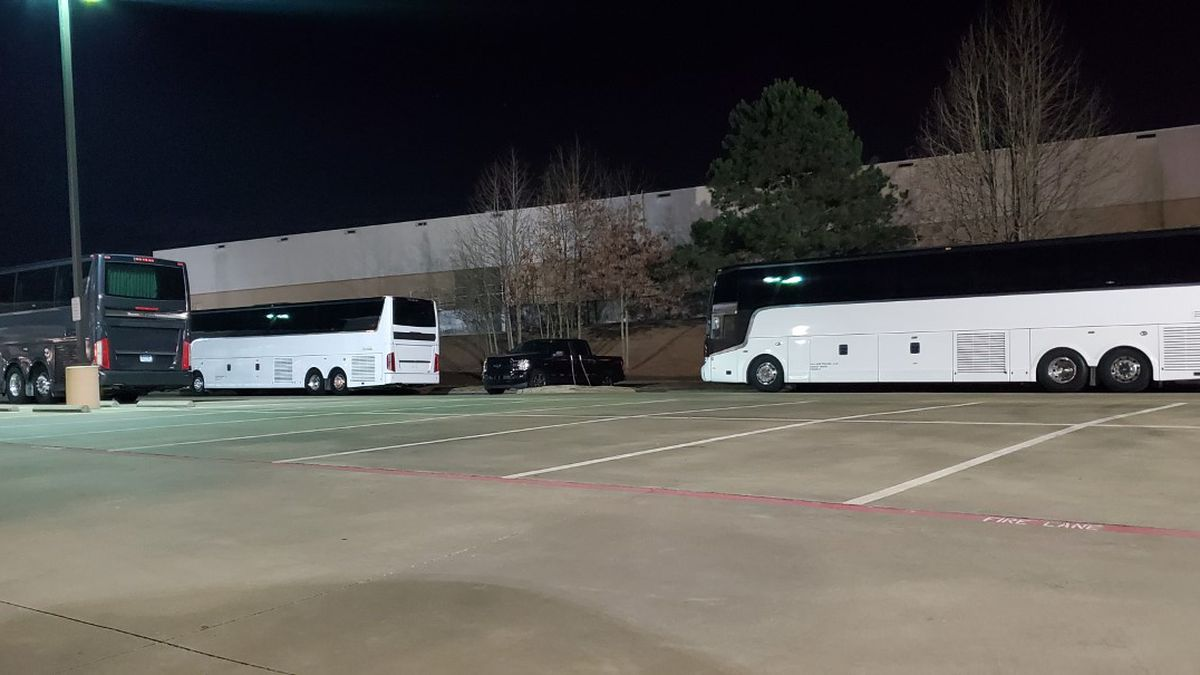 Buses at East Texas hospitals indicate help has arrived