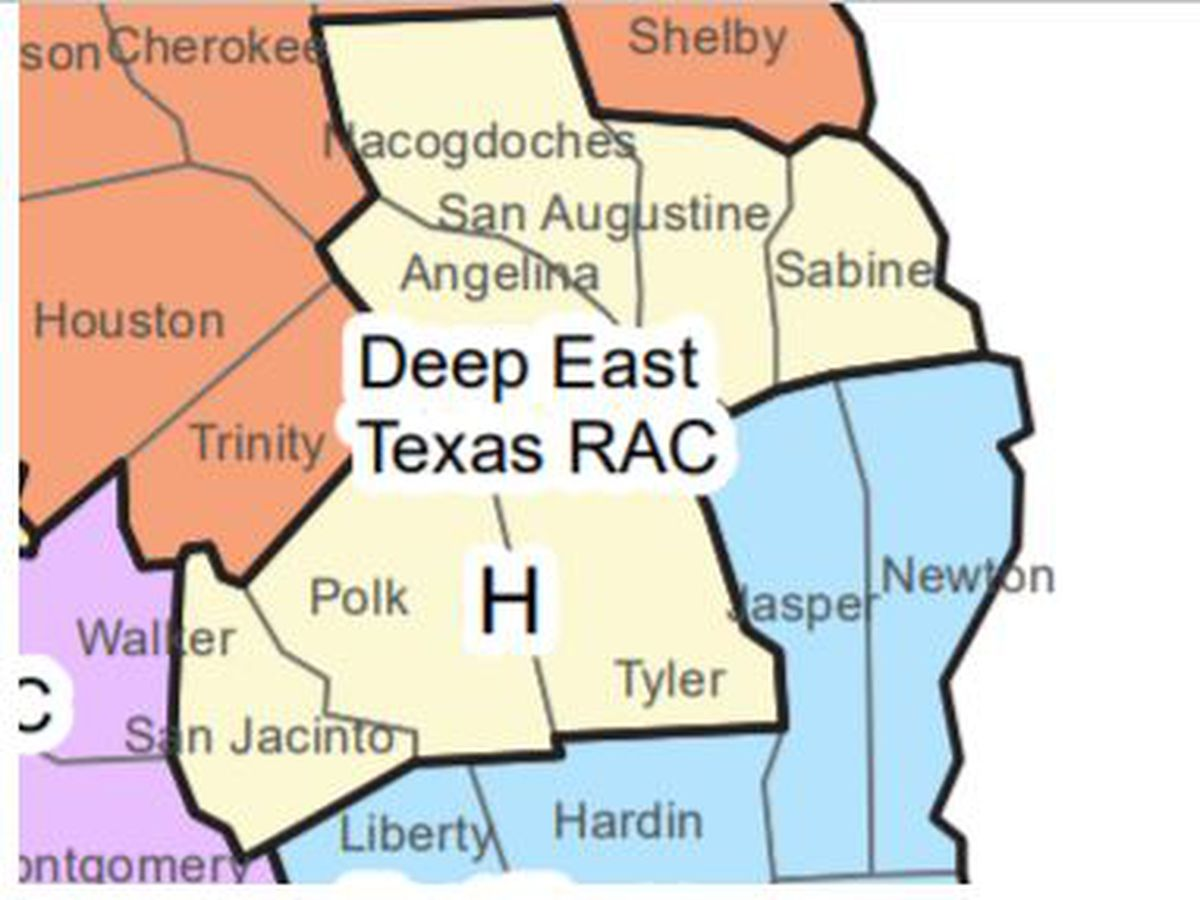 Hospitalization rate for area including Angelina, Nacogdoches counties remains above 15% for 38 days