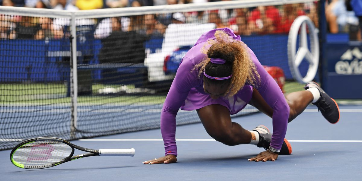 Serena turns ankle in US Open win; Djokovic quits his match
