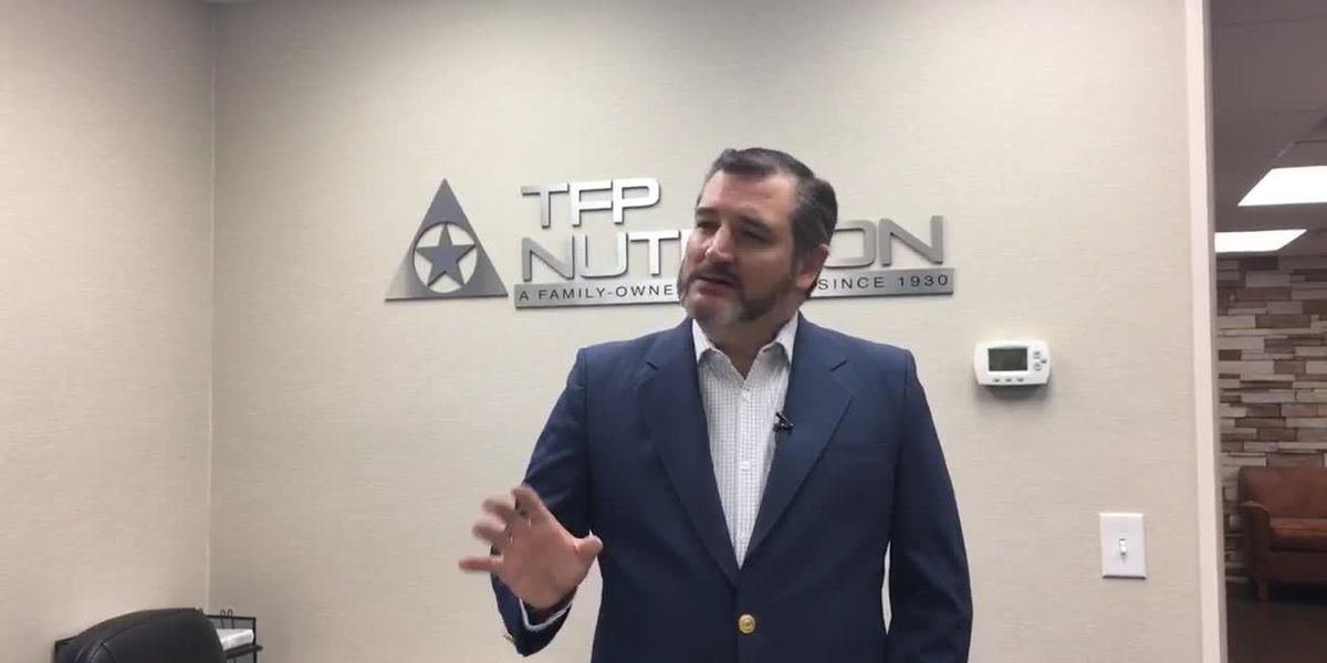 WEBXTRA: Sen. Cruz stops in Nacogdoches to talk national state of emergency, Democratic opponents