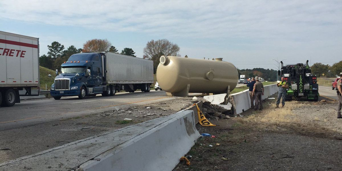 FM 849 bridge at I-20 closed after tank strikes structure