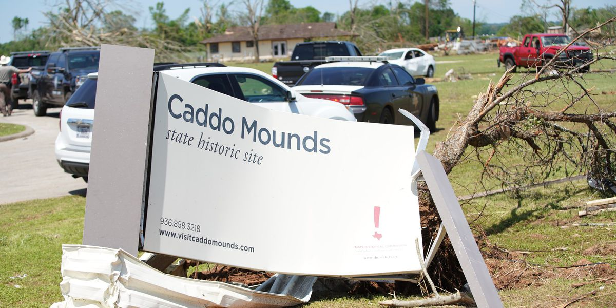 Caddo Mounds Historic Site volunteers vow to rebuild grass house destroyed by tornado