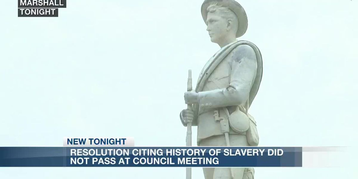 Marshall City Council declines to pass resolution citing history of slavery in the city - clipped version