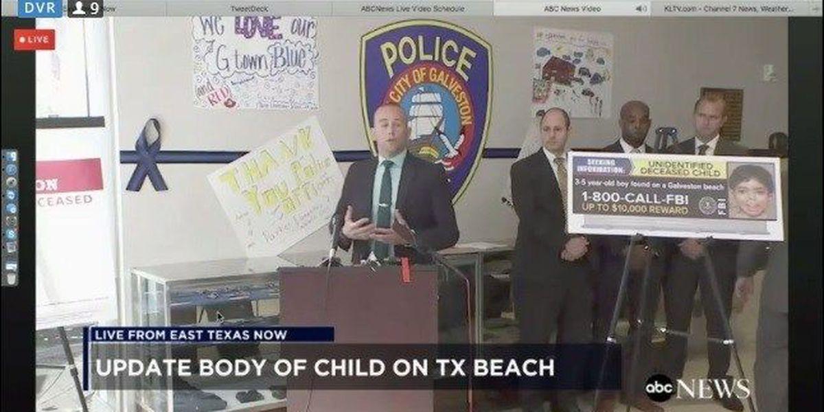 FBI still searching for information on boy found dead on Galveston beach