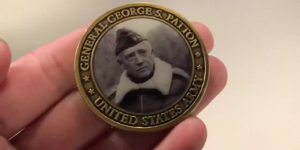 George Patton challenge coin found in East Texas