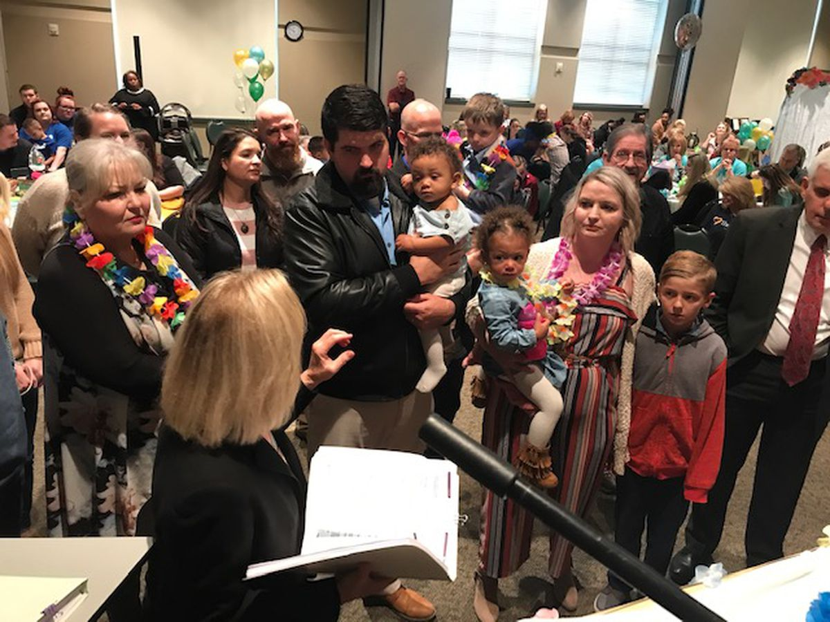 Ten children officially join forever families at Smith County adoption event