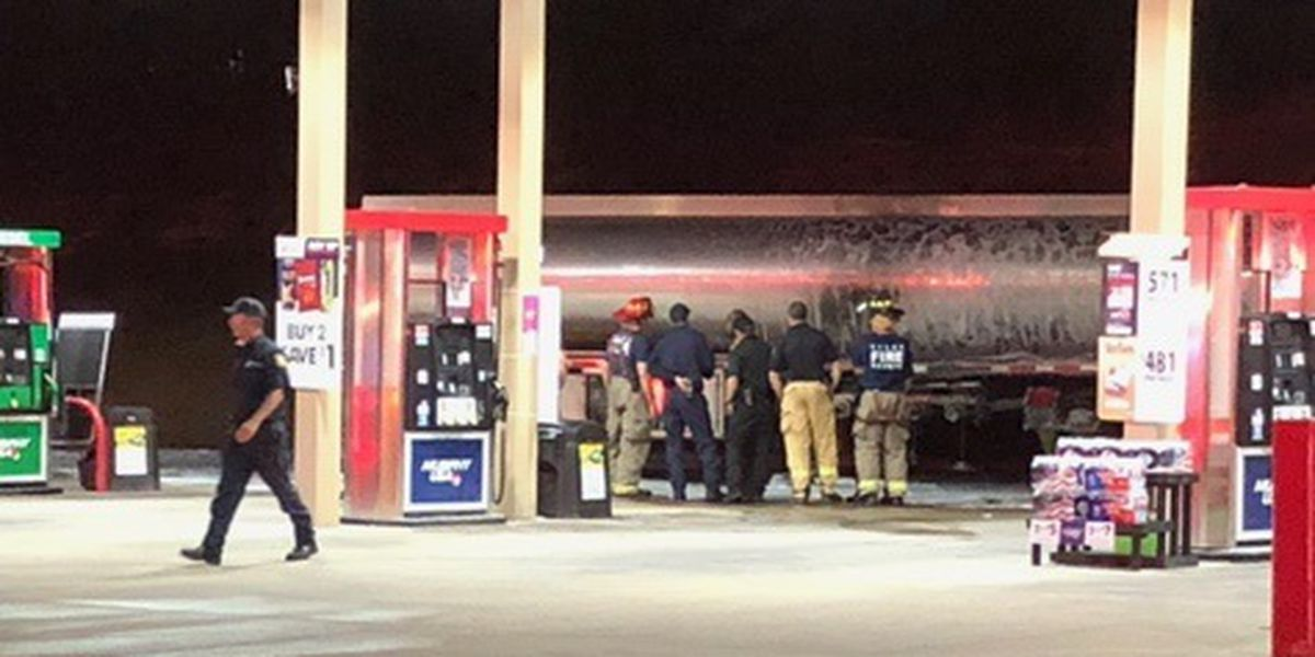 Tanker delivering fuel to Tyler Walmart gas station catches fire