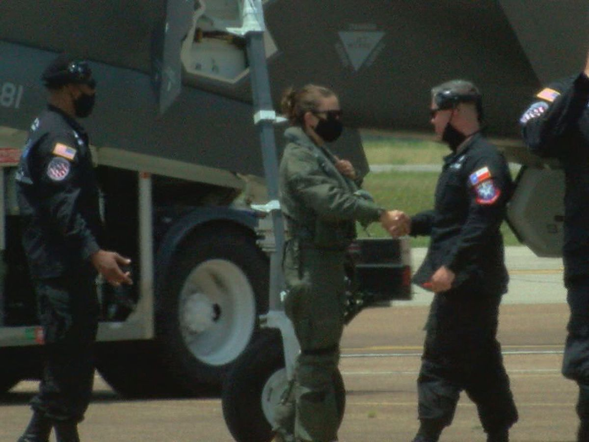 Female Air Force pilot makes history