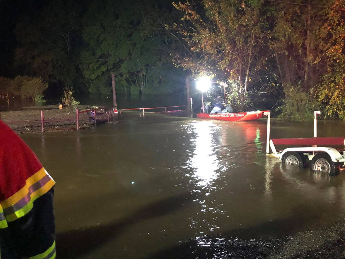 Crews rescue family from rising waters in Rusk County