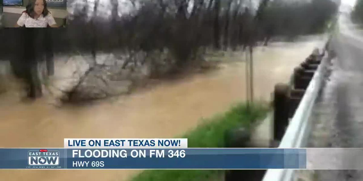 VIDEO: Flooded roadway renders FM 346 at US 69 impassable