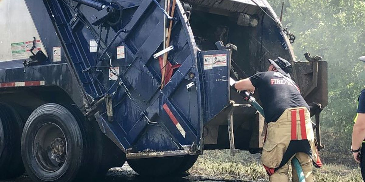 WEBXTRA: Garbage truck catches on fire