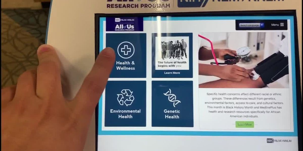 Health Information Kiosk available at Tyler Public Library