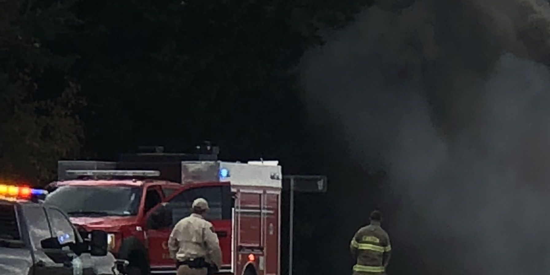 Crews responding to fire on Interstate 20, west of Canton