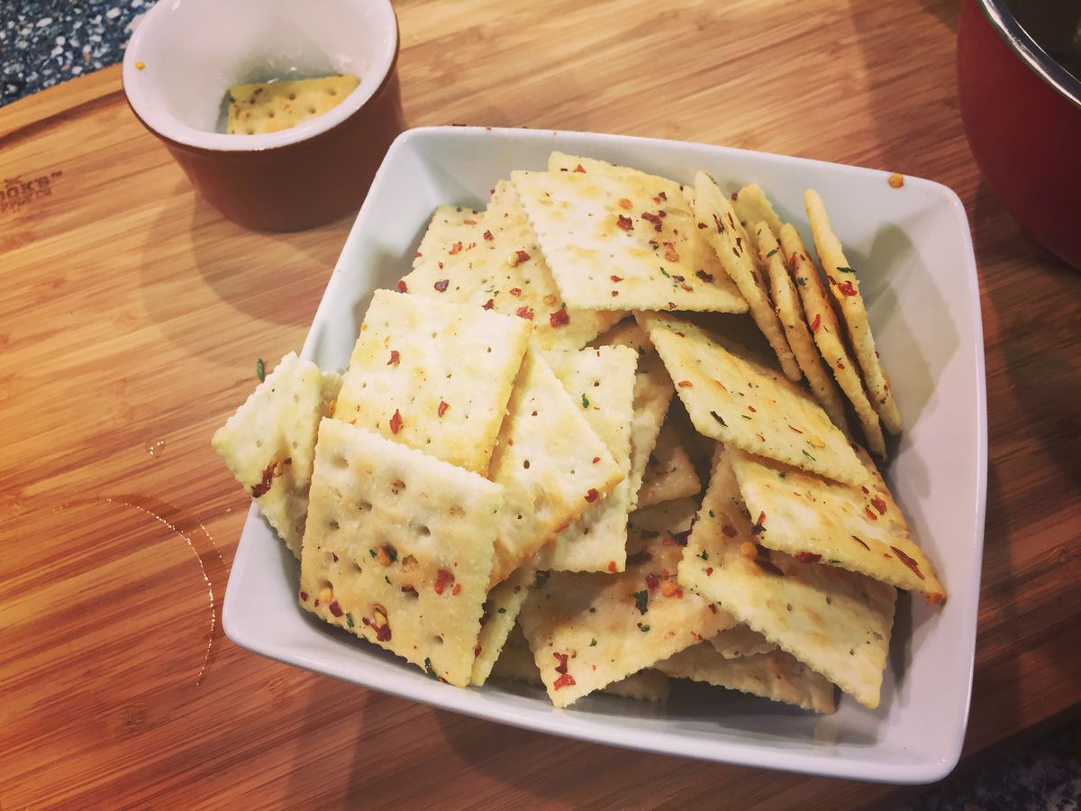Spicy ranch-style crackers by David Wallace