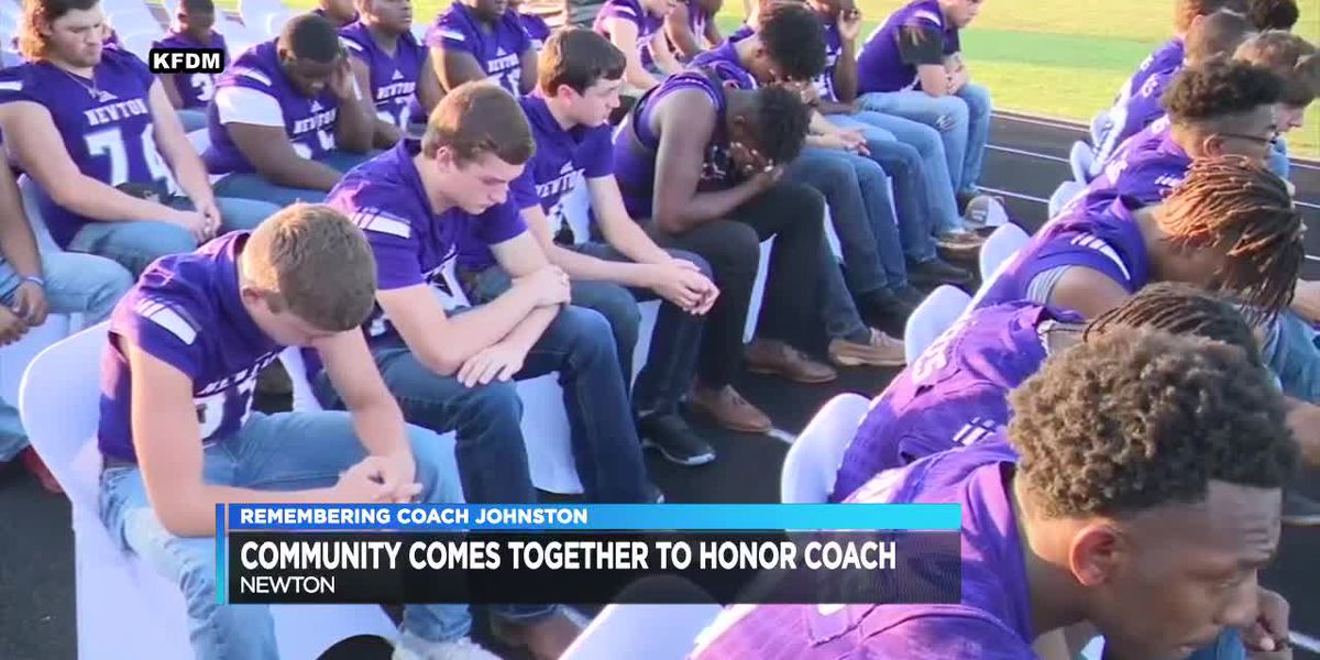 VIDEO: Newton community celebrates life of Coach W.T. Johnston