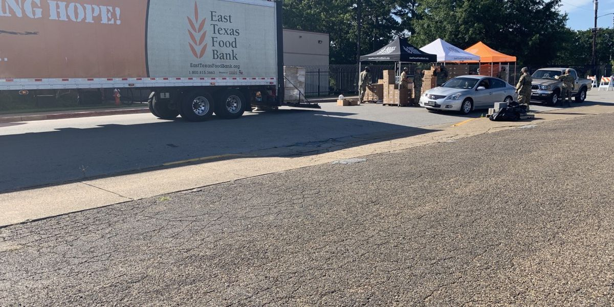 WEBXTRA: East Texas Food Bank continues emergency food box distributions
