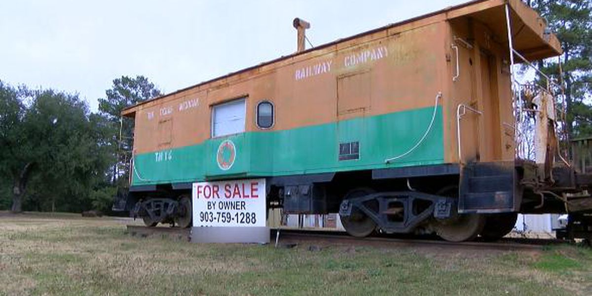 It's the end of the line for the caboose, but you can buy one in Upshur County