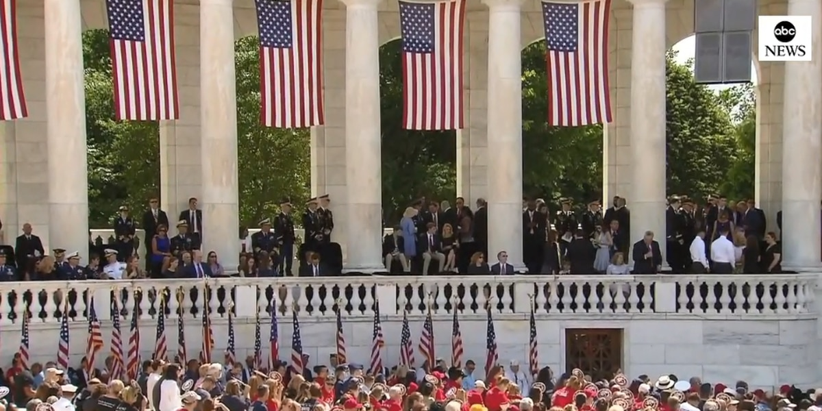 LIVE: National Memorial Day observance at Arlington National Cemetery