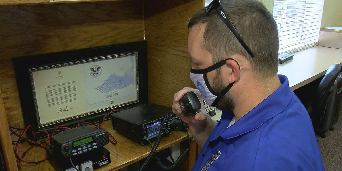East Texas emergency management officials prepare vital radio equipment ahead of tropical weather