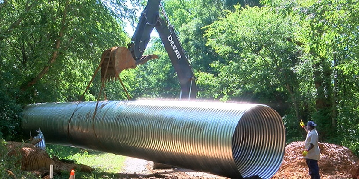 Major road construction following severe storms