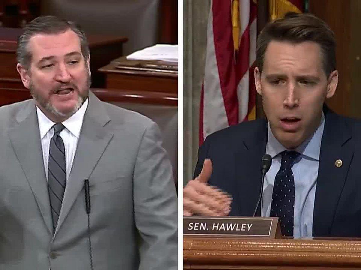 Senate Democrats file ethics complaint against Cruz, Hawley after Capitol riot