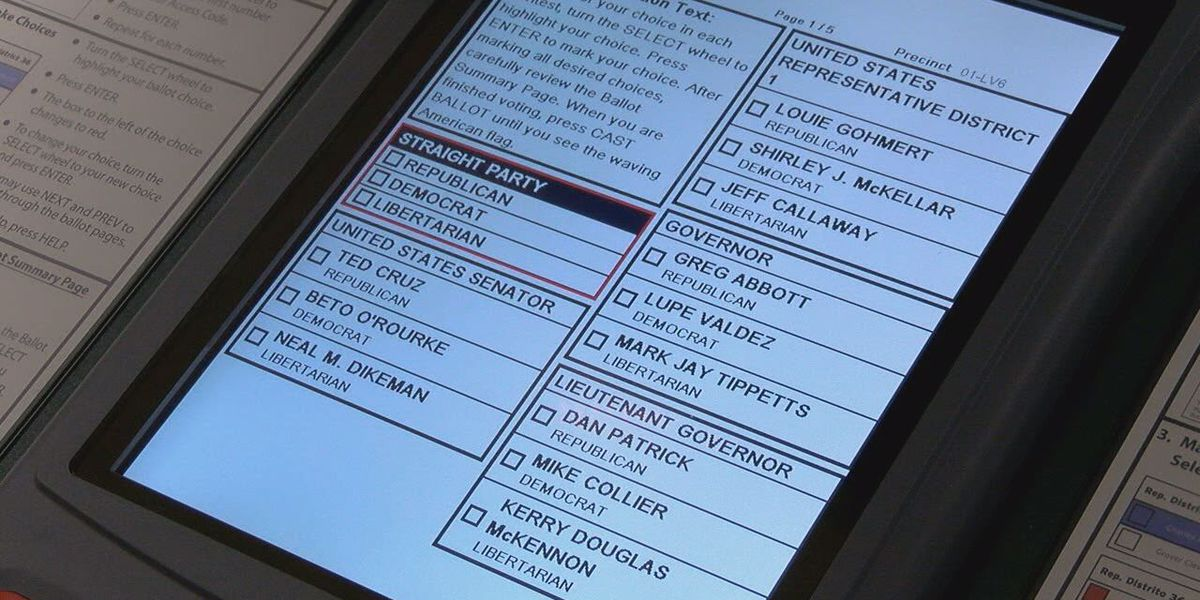ETX Politicians: 'Eliminating straight-ticket voting will lead to informed decisions'