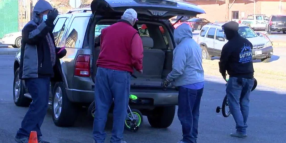 Salvation Army Angel Tree donations handed out to those in need