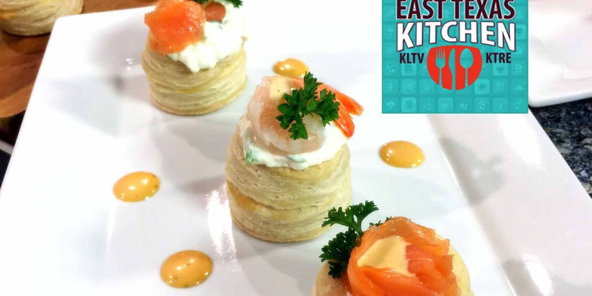 Oscars appetizer: Smoked salmon puffs by Chef Simon Webster
