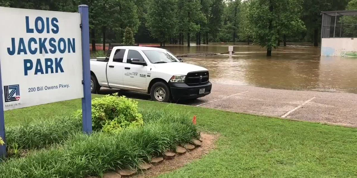 WebXtra: Heavy rain results in high water lingering in Longview