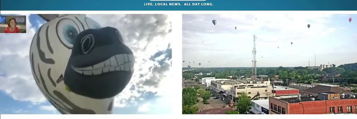 WATCH: Mister Z the Zebra hot air balloon prepares for the Great Texas Balloon Race