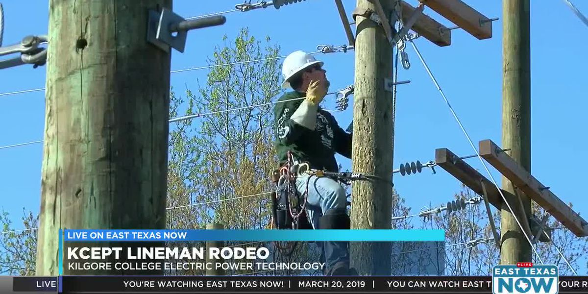 Video: New Kilgore College graduates compete in lineman rodeo