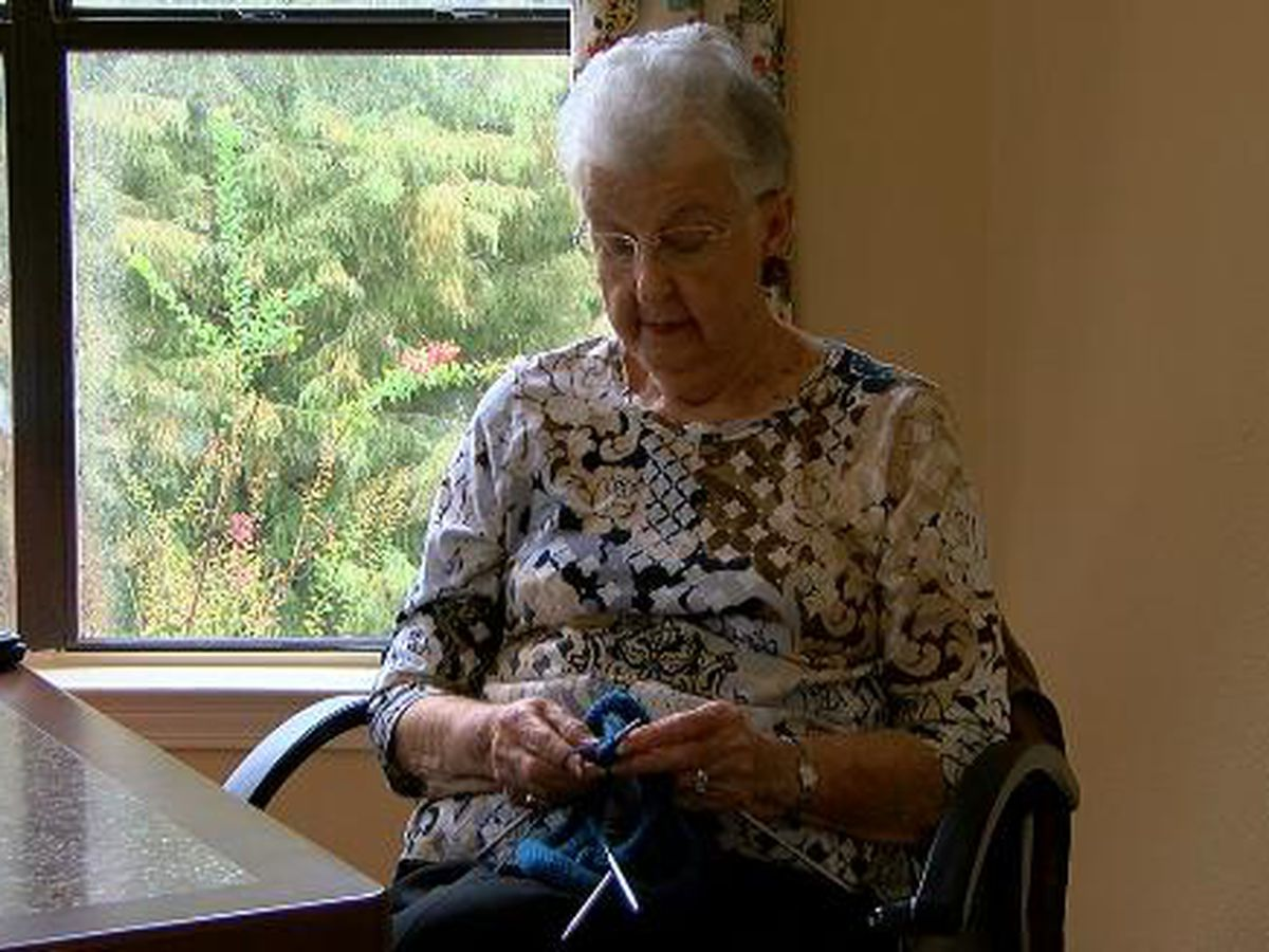 Longview woman hand knits and donates caps for cancer patients
