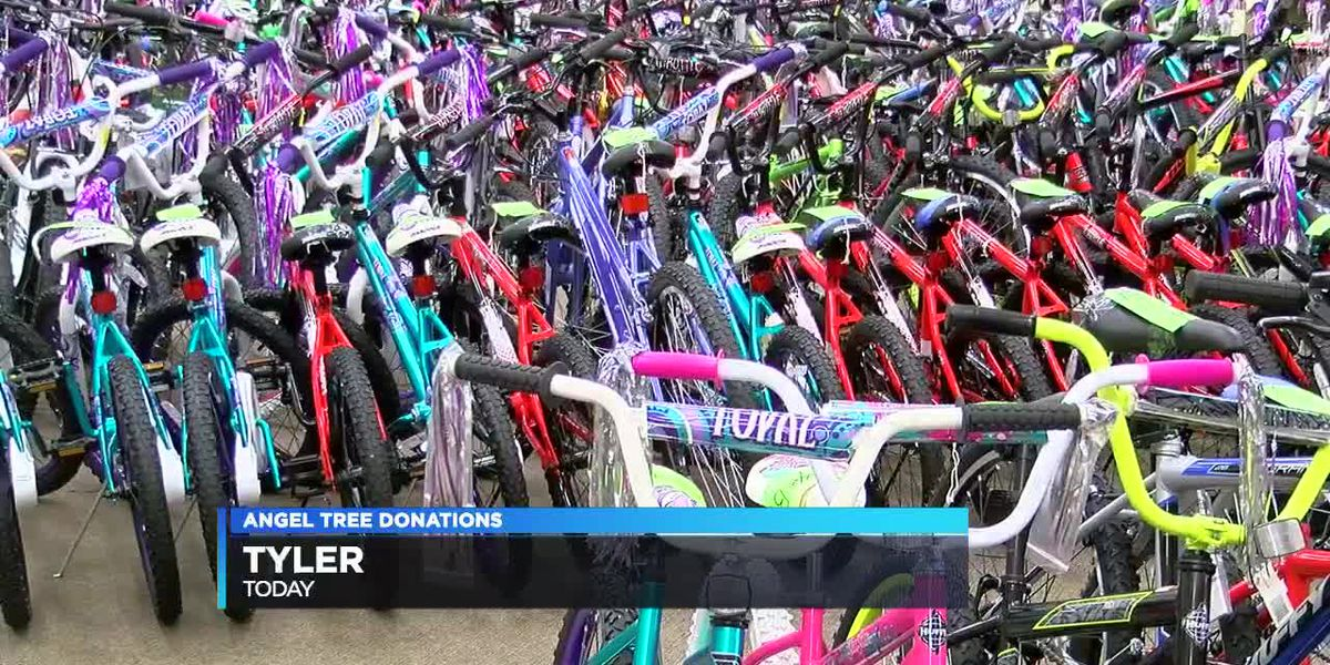 Angel Tree donations given out today in Tyler