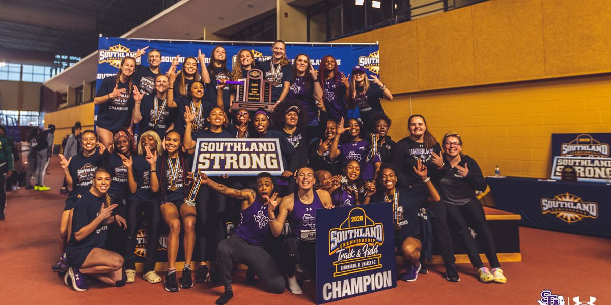 SFA Women Track and field wins SLC Indoor Championships